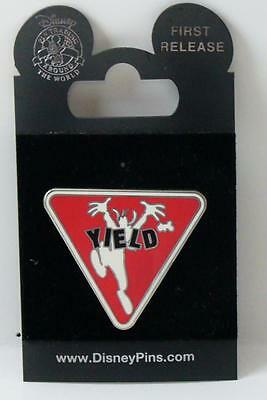 Disney Road Signs Yield Sign Goofy Pin