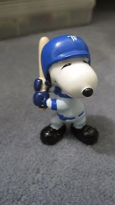 Peanuts Snoopy  Whitman candy PVC figurine Snoopy baseball player