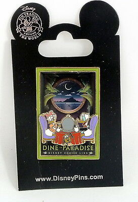 Disney Cruise Line Donald and Daisy Duck Dine in Paradise Pin