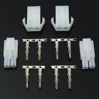 2x Connector Adapter Plug Socket Male + Female Optimate Accumate Battery Charger