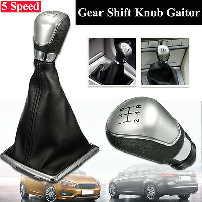 5 Speed Gear Shift Knob Stick Lever Gaitor Gaiter Boot Cover Fit Ford Focus MK2