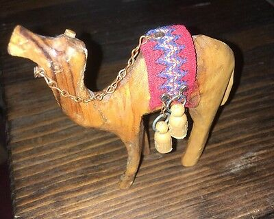 Olive wood Camel hand carved 4""