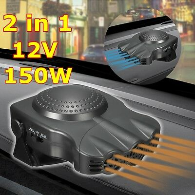 12V 150W 2 In 1 Car Van Heater Heat Hot Cool Fan Window Dryer Demister Defroster