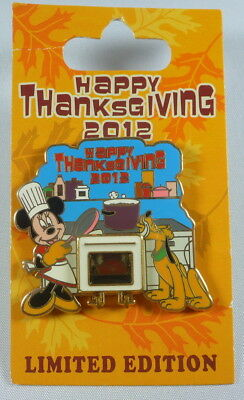 Disney Happy Thanksgiving 2012 Minnie Mouse & Pluto Limited Edition Pin