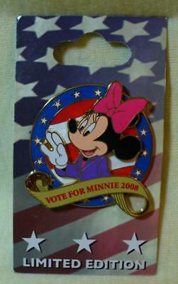 Disney Vote For Minnie Mouse 2008 LE Pin