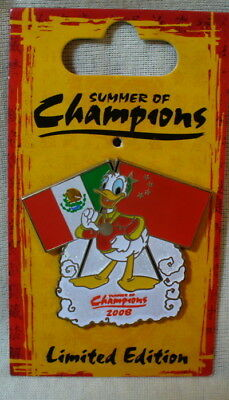 Disney Summer of Champions Donald Duck Mexico & China LE Pin