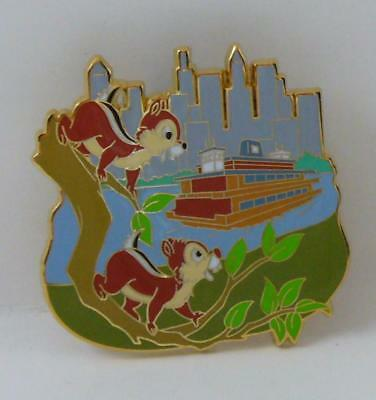 Disney New York City Transportation Chip & Dale Ferry Booster Pin