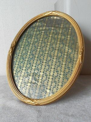 Antique french Gilded Wood PLAQUE  Oval FRAME LOUIS XVI Style