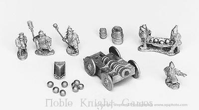 Old Glory Ghost Mini Dwarven Heavy Cannon w/Crew Pack MINT