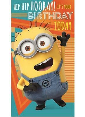 Despicable Me 3 Birthday Card Minions Hip Hooray New Gift