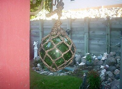 Vintage Antique Green Glass Fishing Buoy
