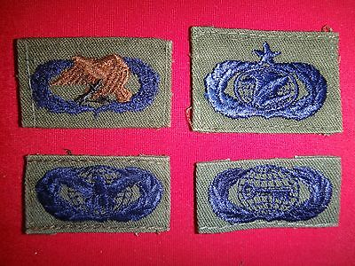 Group Of 4 US Air Force Various INSIGNIA Subdued Patches