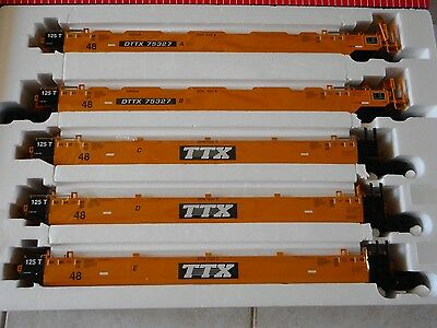 USA Trains R17150 TTX Intermodal 5 Unit Articulated Set (no containers) G scale