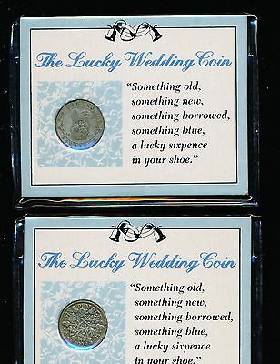 "Great Britain - Silver 6 Pence ""lucky Wedding Pair"""