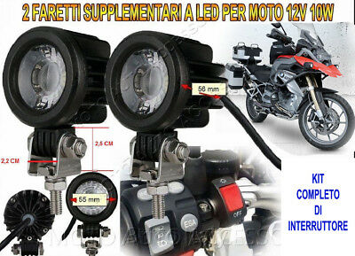 Faretti Supplementari LED 12V 10W 6000K Kit Completo BMW R1200 GS Adventure NEW