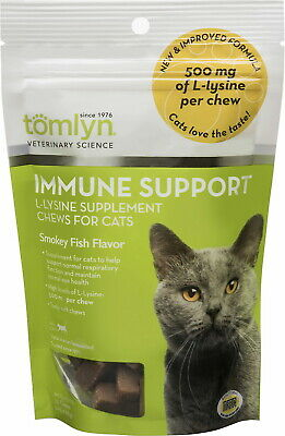 Tomlyn Immune Support L-Lysine Chews for Cats Hickory Smoke 30ct