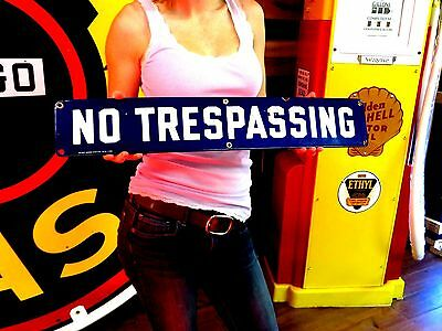NO Trespassing ADVERTISING SIGN OIL GAS STATION Factory Industrial Office Item