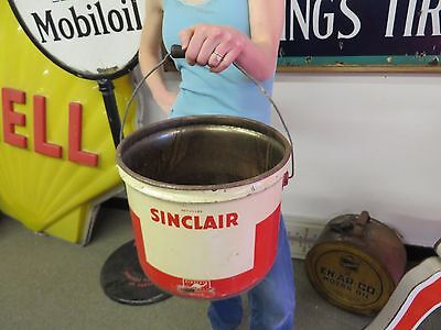 Sinclair 25lb Lubricant Gas Oil Station Advertising Sign Can Barn Find