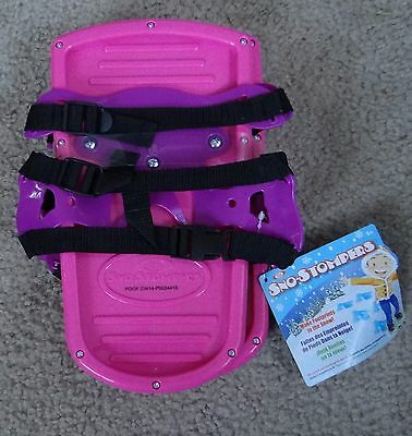 IDEAL Sno Stompers Sand/snow Stompers in pink, fits shoes up to size 5 kids