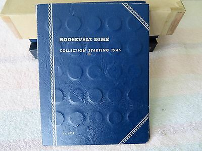 ROOSELVELT SILVER DIME SET IN Whitman Folder-53 DATES-1946 TO 1964 D-FREE SHIP