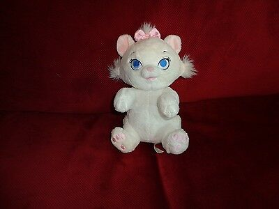 Rare Plush Doll Figure Disney Babies Baby Nursery Aristocats White Marie Cat Toy