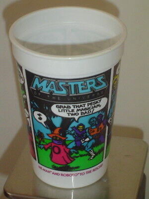 """Vintage 1985 Burger King """"Masters Of The Universe"""" He-Man/Roboto Cup - EX!"""