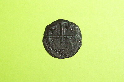 MEDIEVAL COIN the GRANDFATHER of DRACULA cross star old RADU I bani vlad impaler