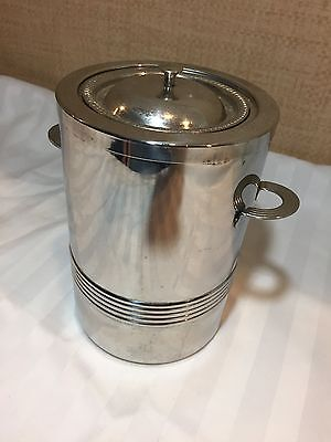 Guy DeGrenne Stainless Steel Wine Chiller Ice Bucket Insert Lid 3 Pieces