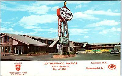 TUCUMCARI, New Mexico  NM   Route 66  LEATHERWOOD MANOR Roadside Postcard