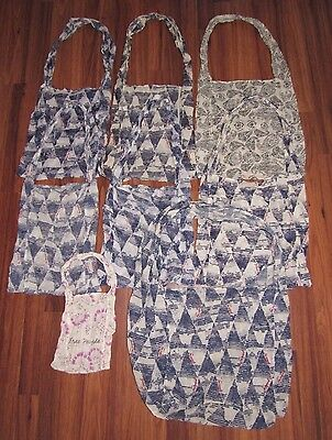 Lot Of 8 Free People Gauze Shopping Beach Travel Tote Bags