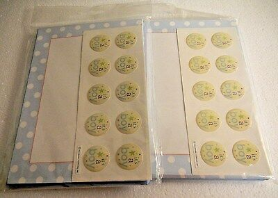 Its a Boy Baby Birth Announcement Cards with Stickers and Envelopes 2 Sets of 10