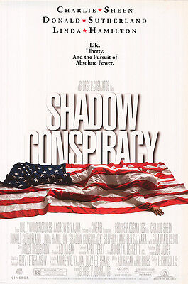 Shadow Conspiracy Original D/S One Sheet Rolled Movie Poster 27x40 NEW 1997