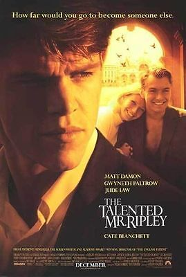 The Talented Mr. Ripley Original D/S 1 Sheet Rolled Movie Poster 27x40 NEW 1999