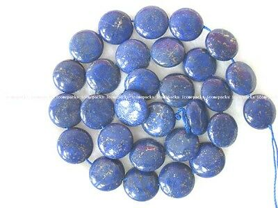 "lapis lazuli coin beads 14mm 15""nature blue beads wholesale discount"
