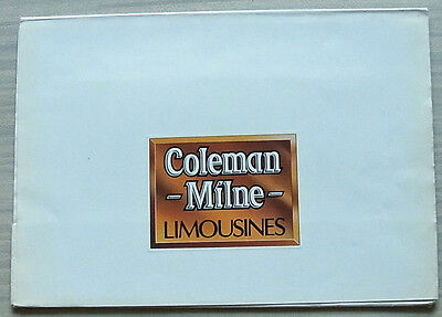 COLEMAN MILNE 4 & 6 DOOR LIMOUSINES Press Pack Photos c1990 4 & 6 DOOR