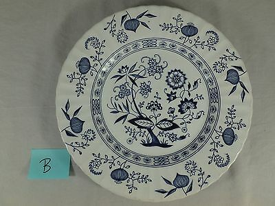 "J & G Meakin Blue Nordic 10"" Dinner Plate Dish White Onion English Ironstone B"