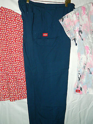Dickies Scrubs 2 Tops & 1 Pants Size Medium Very Nice Condition