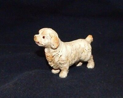 CAVALIER KING CHARLES SPANIEL DOG CAST IRON PAPERWEIGHT FIGURINE Hand Painted