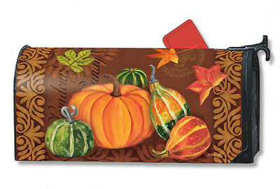 Vintage Harvest Mail Box Wrap fall pumpkin gourd magnetic mailwrap mailbox cover