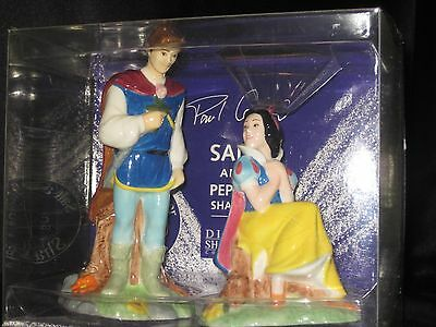 Disney Snow White & Prince Salt & Pepper Shaker Paul Cardew Limited Collectible