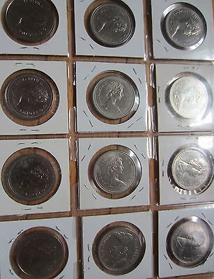 Complete Set of Canada Nickle Dollars Coins (1968-1986)