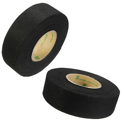 Black Flannel 25mmx15m Car Roll Wiring Felt Fabric Harness Tape Cable Looms