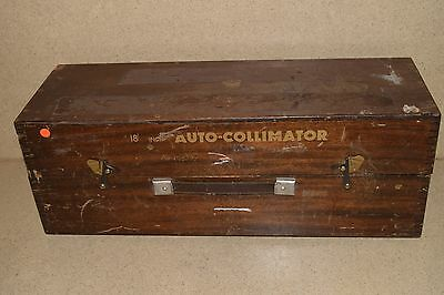 """++ Hilger & Watts Microoptic Autocollimator 18""""  No 111170 With Case (H2)"""