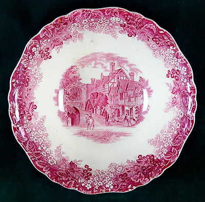 J & G Meakin ROMANTIC ENGLAND-RED Round Vegetable Bowl 6606697