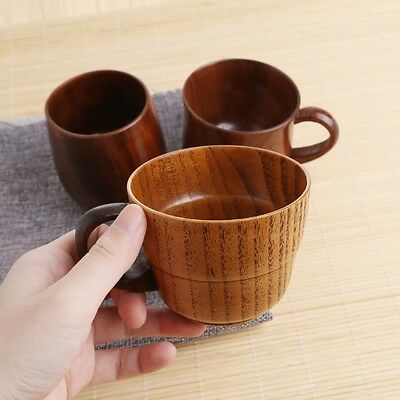 Wooden Cup Primitive Handmade Natural Wood Coffee Beer Juice Milk Tea Mug