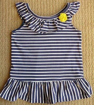 Gymboree POCKETFUL OF SUNSHINE White Yellow Flutter Sleeve Corsage Top NWT 2T 5T