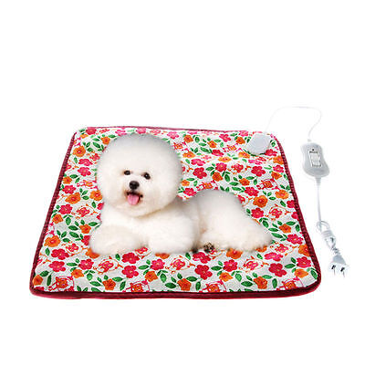 220V 40*40cm Warm Pet Cat Dog Electric Heat Heated Heating Pad Mat Blanket Bed