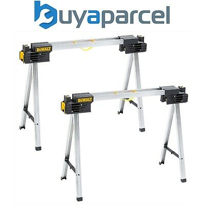 2X Dewalt Heavy Duty Portable Saw Horse Work Support Stands - 1 PAIR DWST1-75676