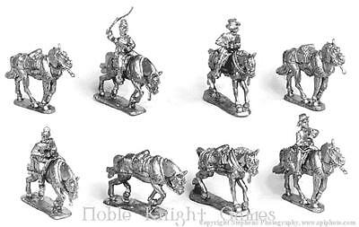 Old Glory War Between the States 25mm Extra Limber Horses w/Riders Pack MINT