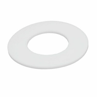 88mmx45mmx3mm DN40 PTFE Round Flat Washer Gasket Seal Ring White